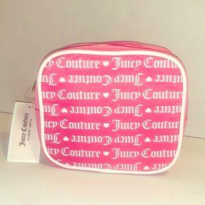 NEW Juicy Couture makeup bag - zip up pink logo